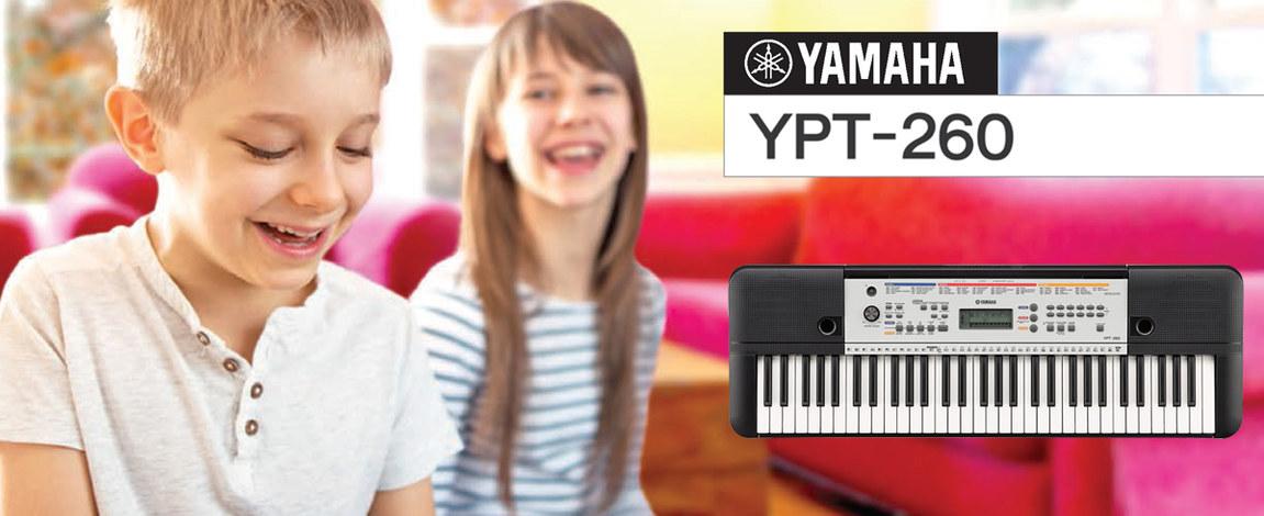 music media yamaha ypt 260 ide lis kezd keyboard. Black Bedroom Furniture Sets. Home Design Ideas